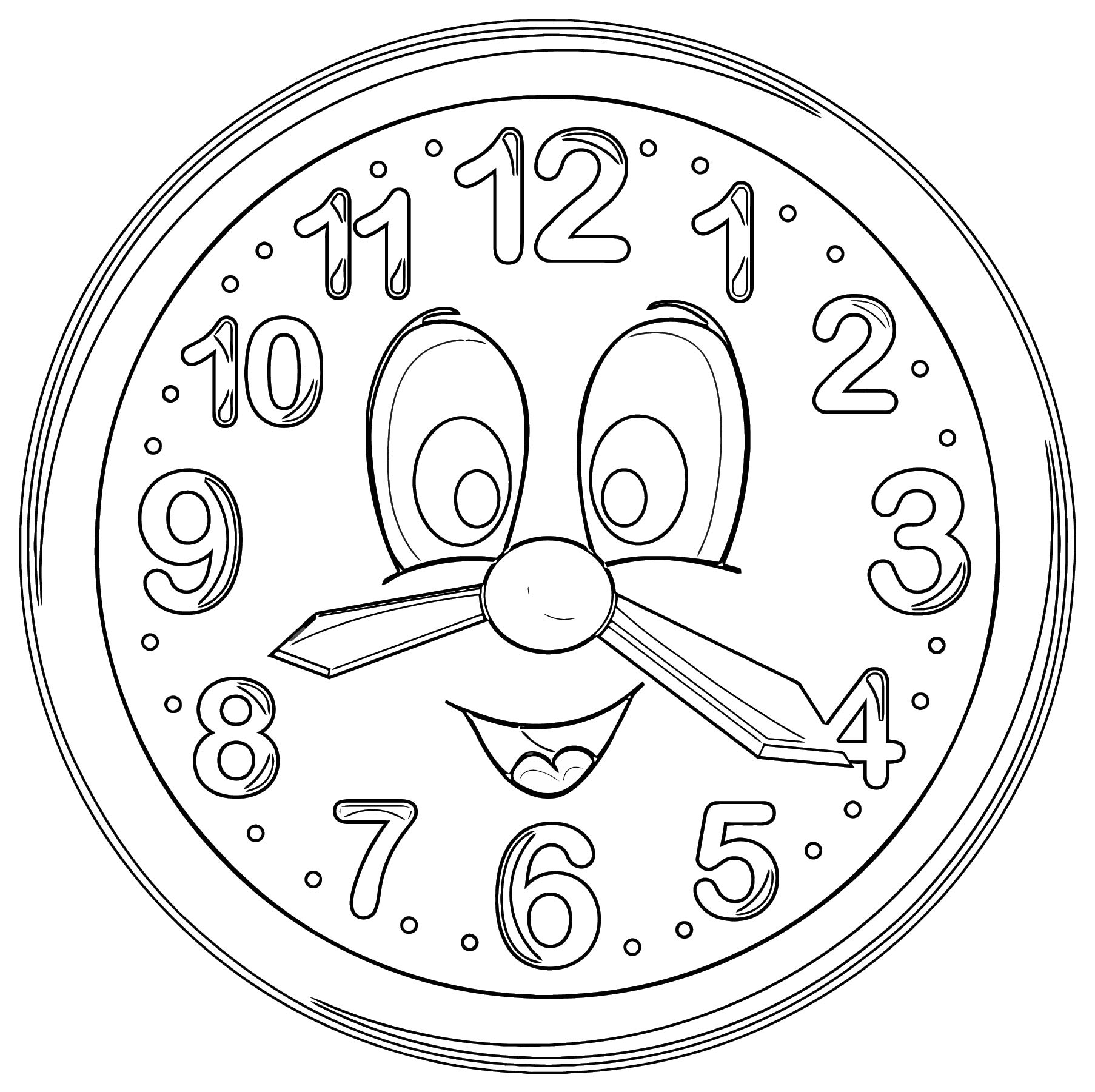 Cute Clock Png Clip Art 11 Free Printable 40 Cartoonized Free Printable Coloring Page
