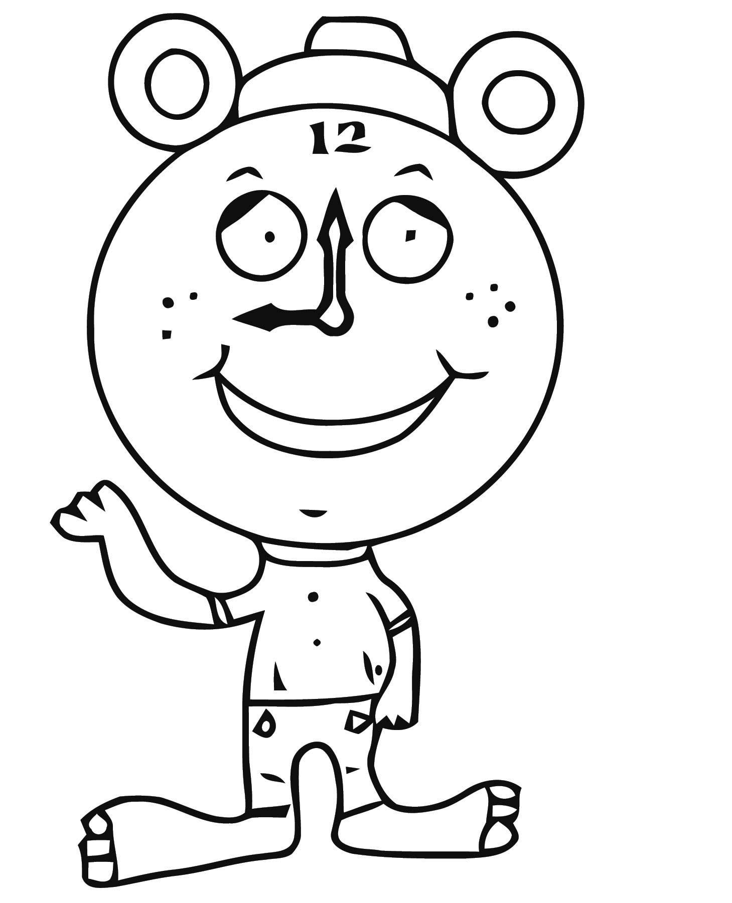 Daylight Savings Time Clock Clipa Free Printable Rt Cartoonized Free Printable Coloring Page