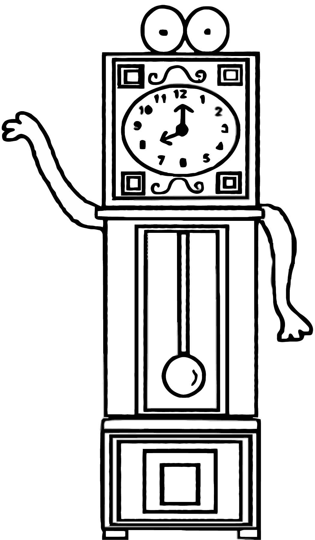 Daylight Savings Time Clock Clipart Free Printable 2 Cartoonized Free Printable Coloring Page