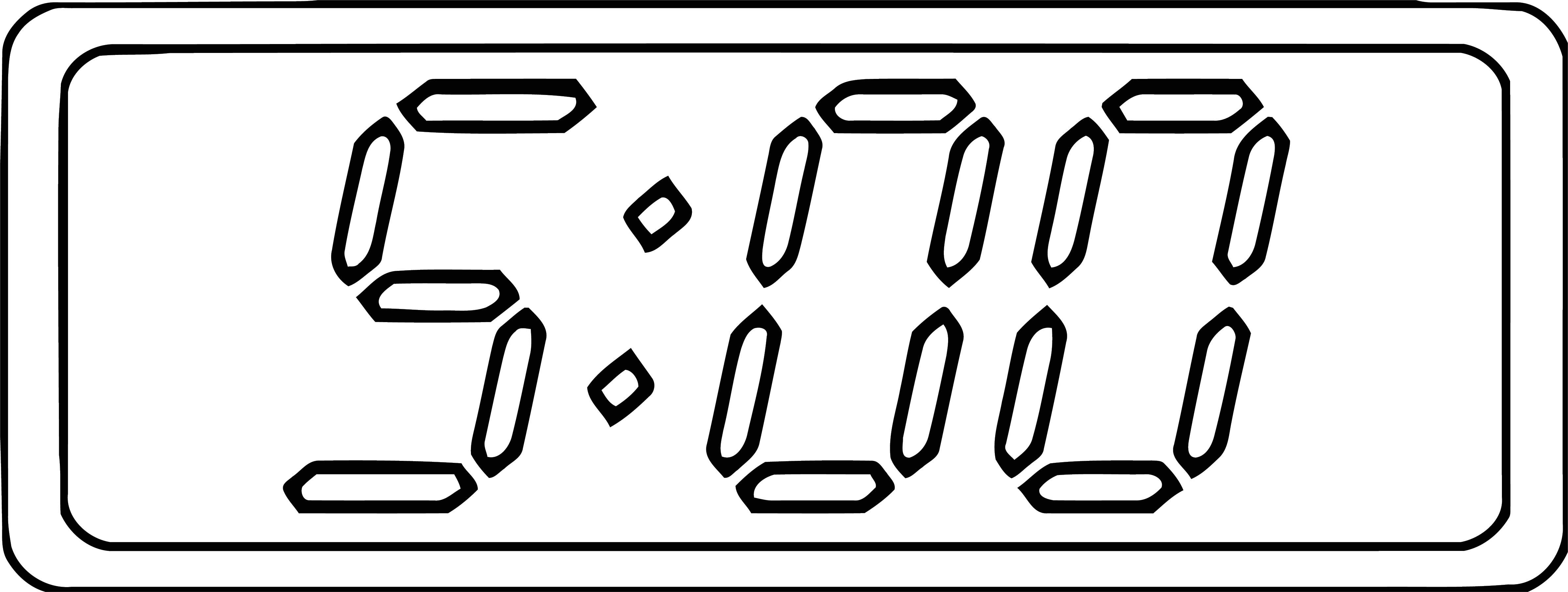 Digital Clock 500 Clip Art 103 Free Printable 29 Cartoonized Free Printable Coloring Page