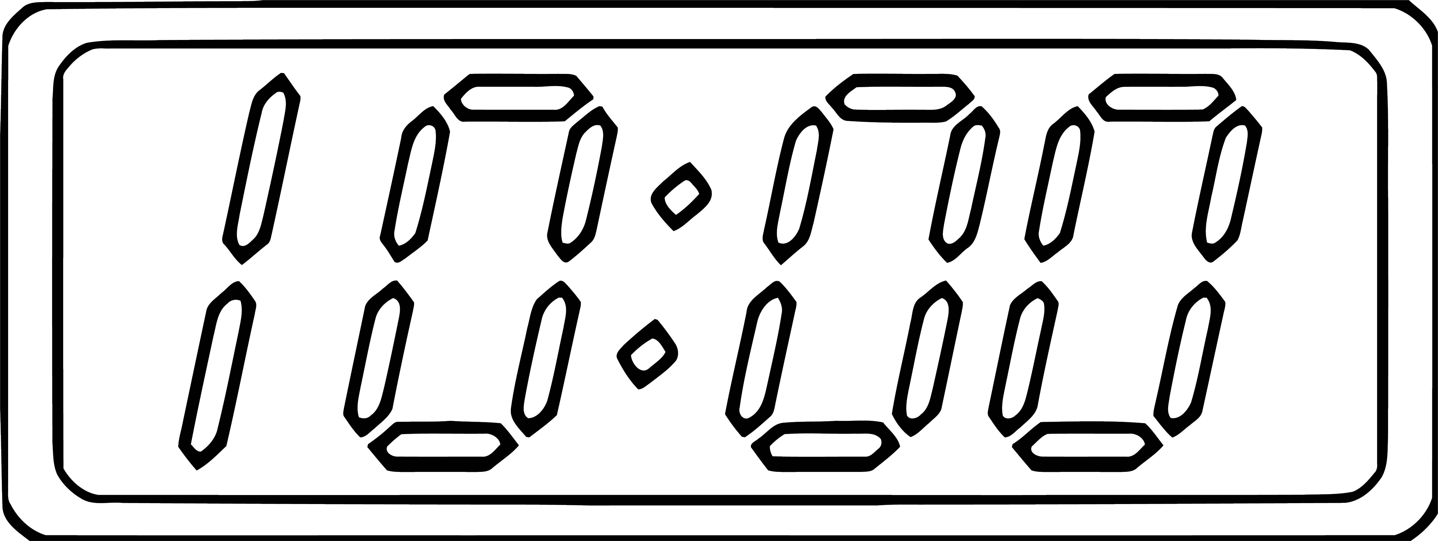 Digital Clock Clip Art Black And White 1038 Free Printable 57 Cartoonized Free Printable Coloring Page
