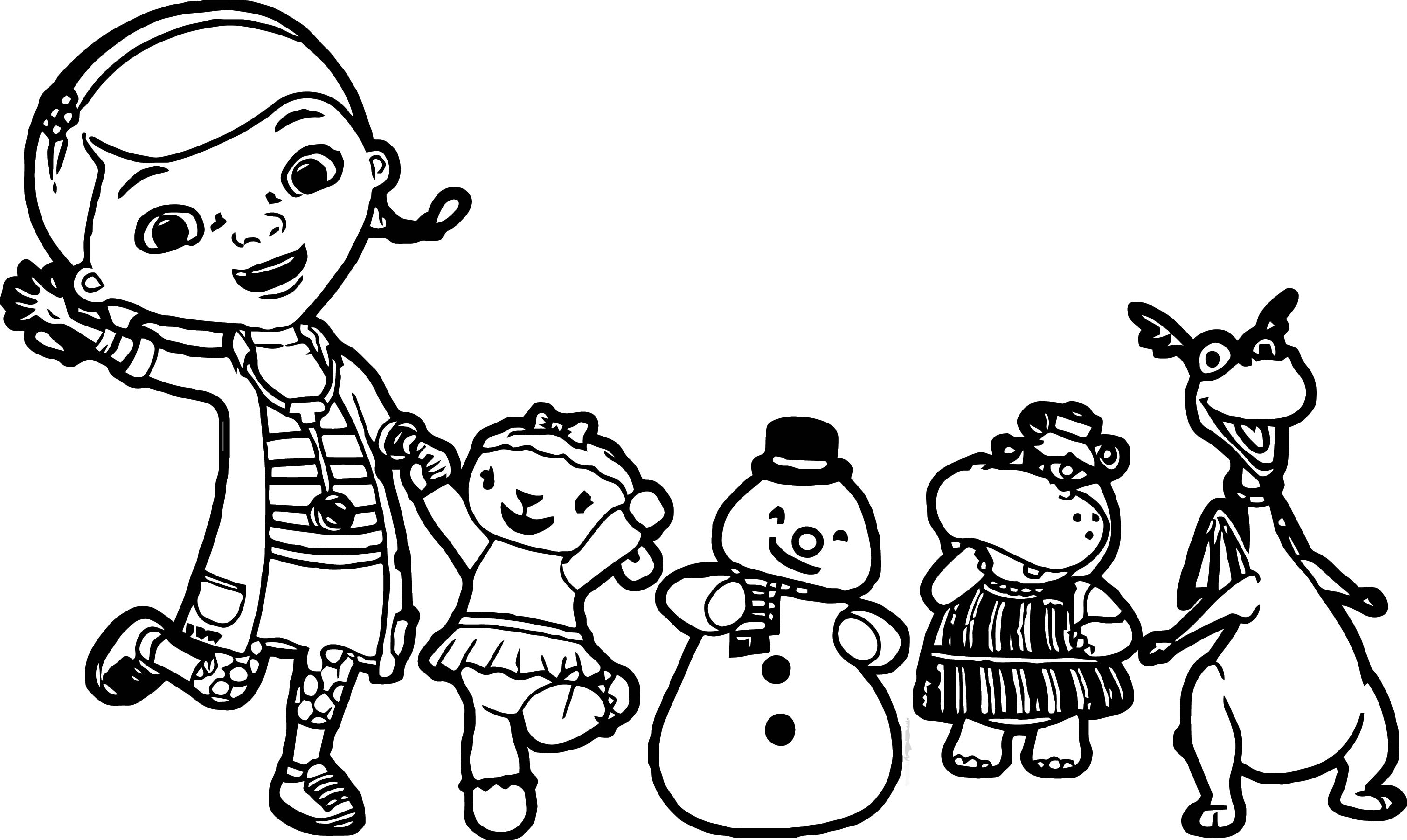 Doc Lambie Hallie Stuffy Chilly Coloring Page