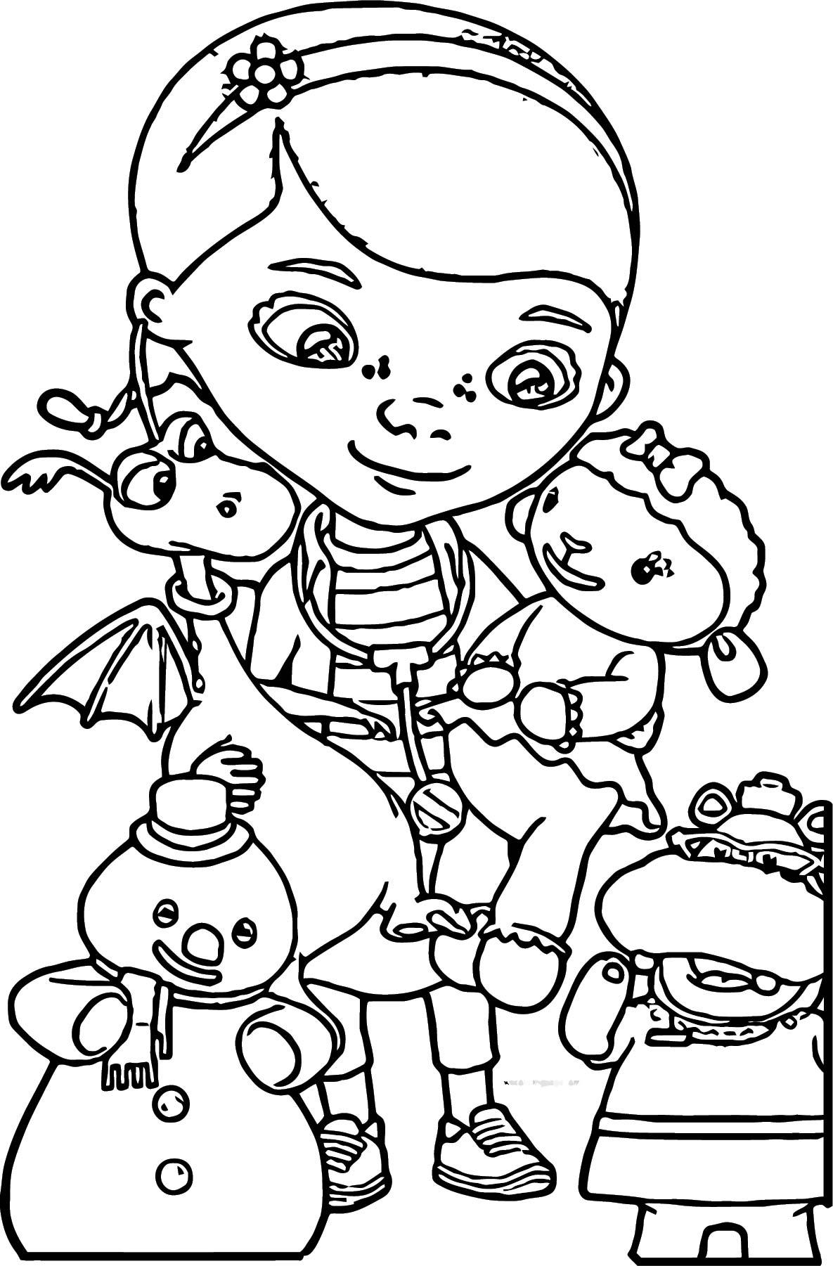 Doc Mcstuffin Eu Dmc Ai Doc Friends Coloring Page ...