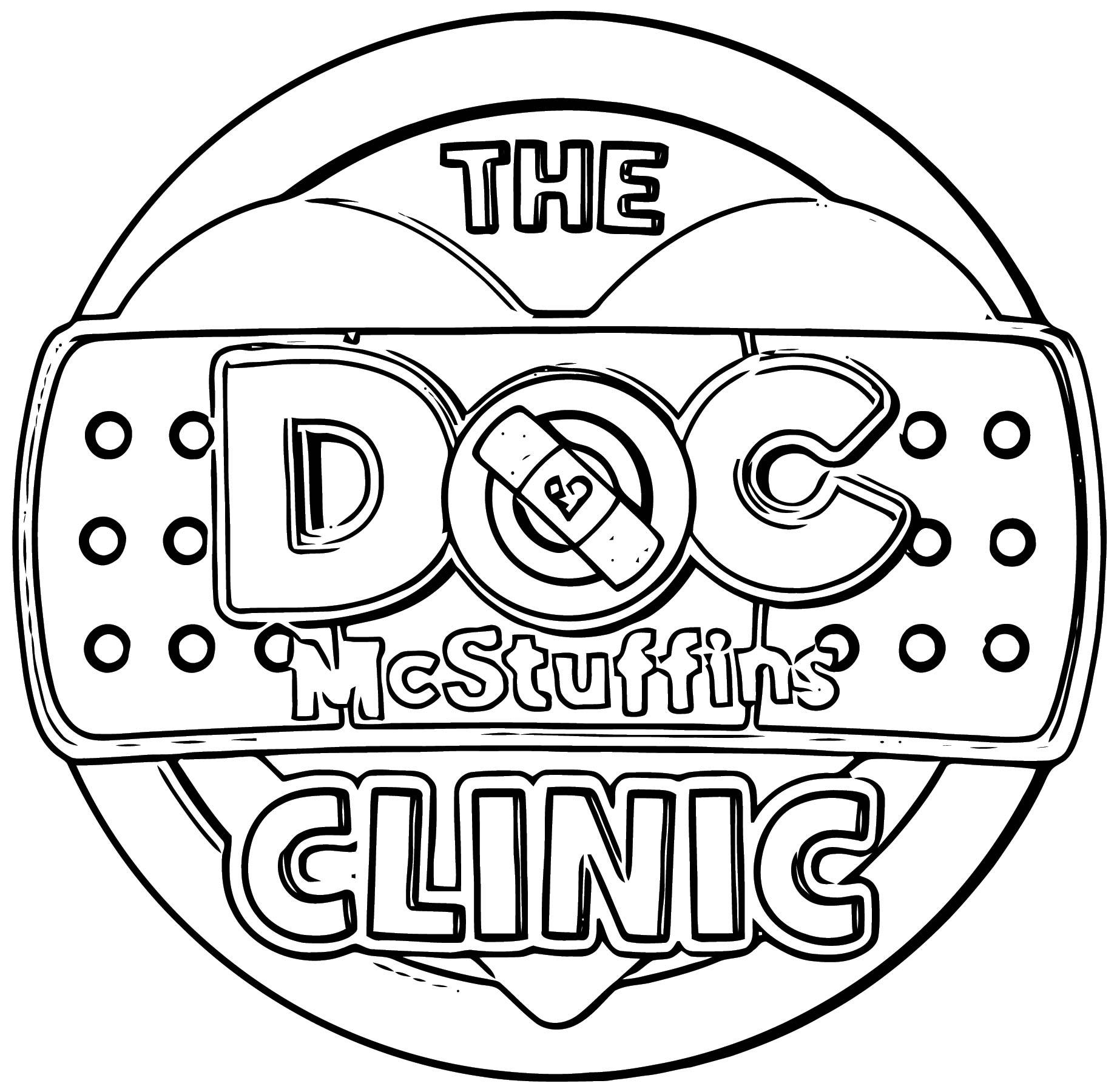 Doc Mcstuffins Clinic Tour Logo Coloring Page ...