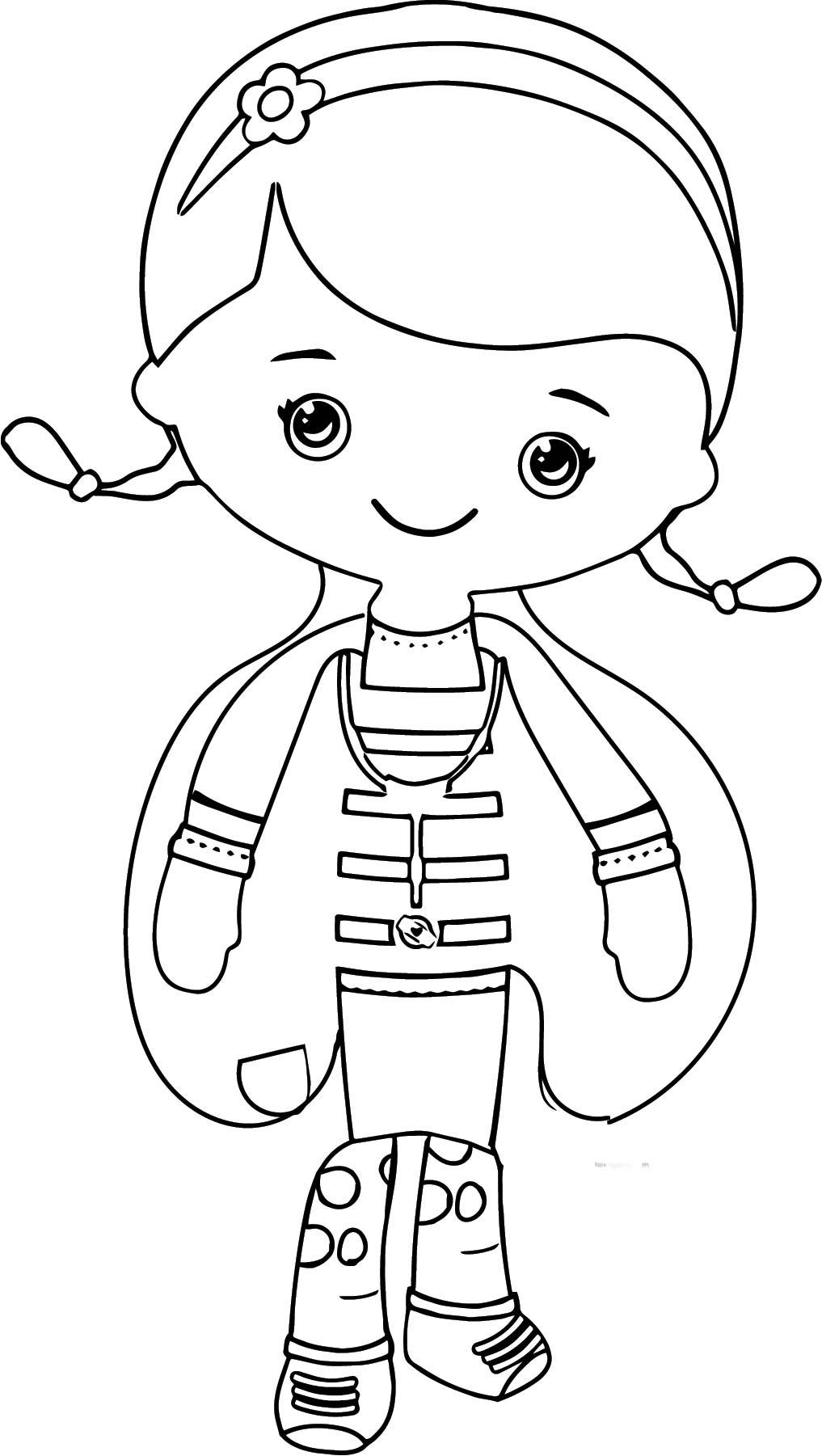 Doc Mcstuffins Coloring Page 1 | Wecoloringpage.com