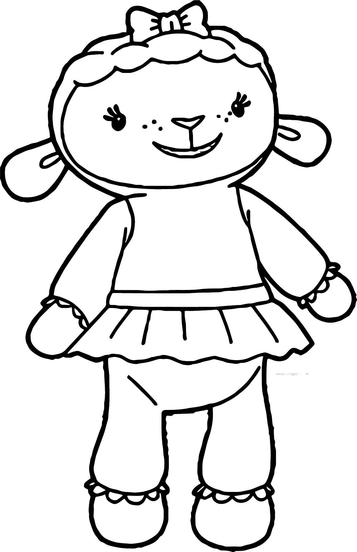 Doc Mcstuffins Lambie Sheep Coloring Page
