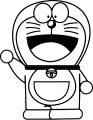Doraemon Bratz Front View Coloring Page