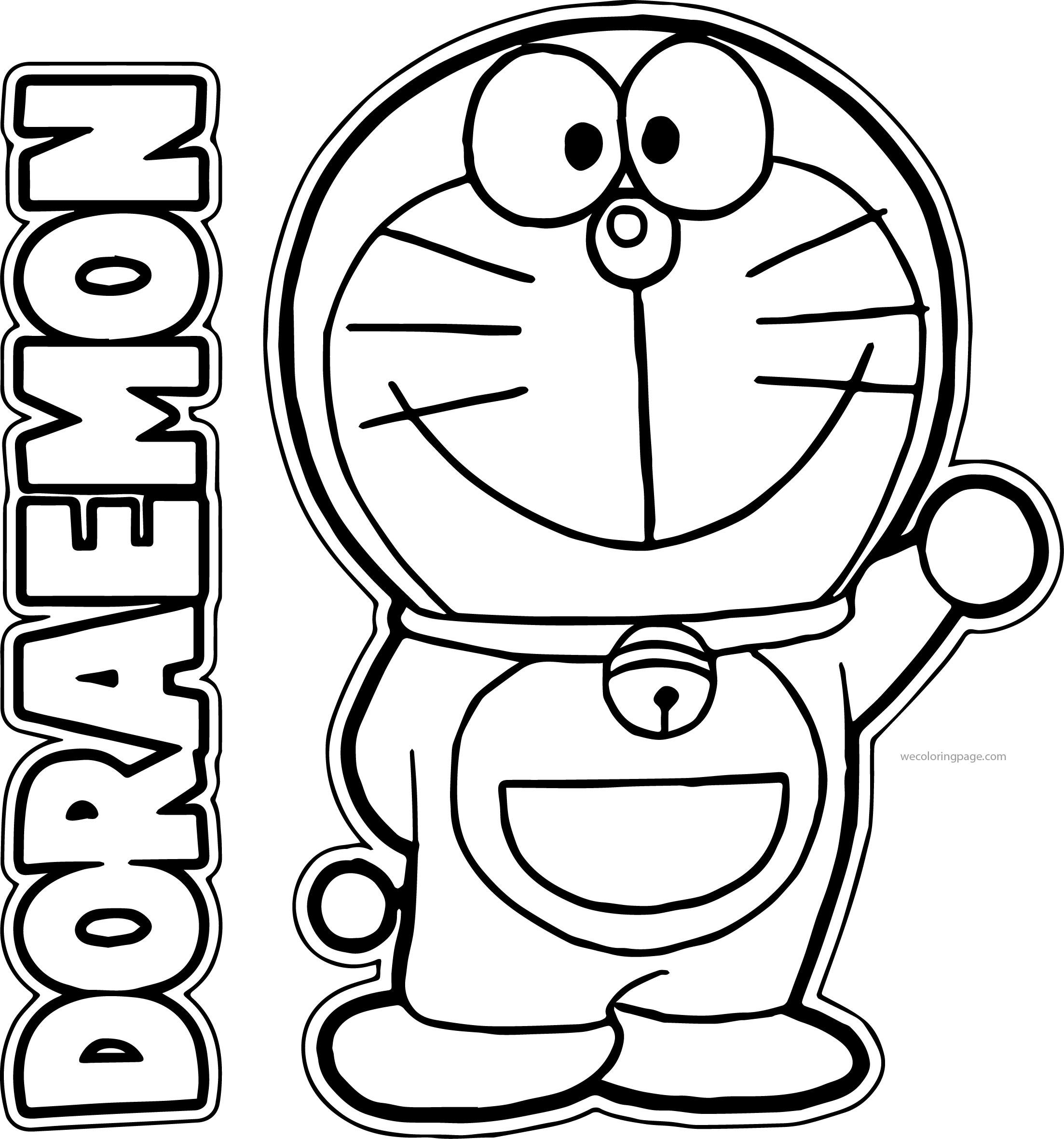 Doraemon Bratz Hello Coloring Page