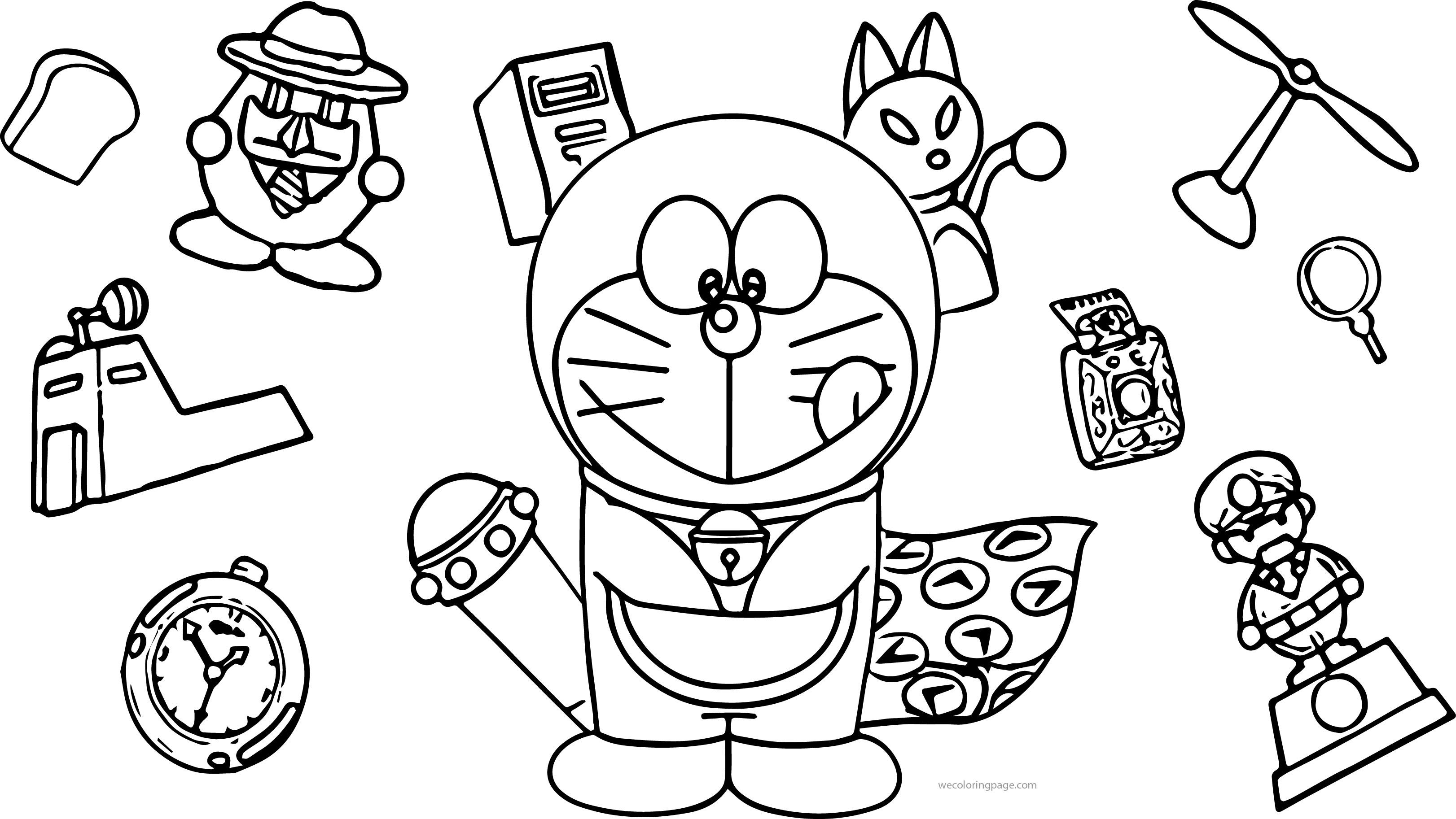 Doraemon Bratz My Pocket Coloring Page