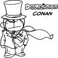 Doraemon Conan Coloring Page