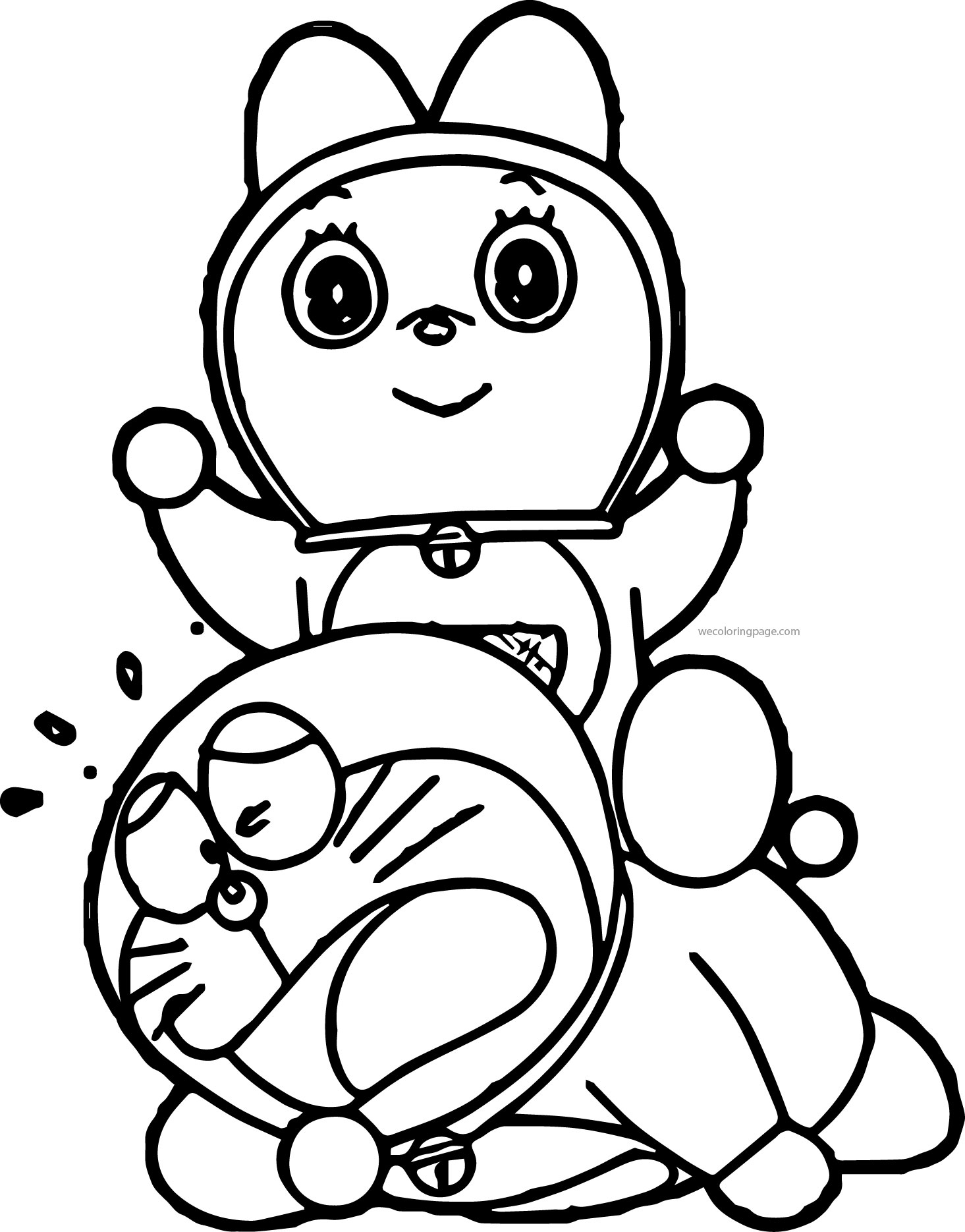 Doraemon Fall Coloring Page