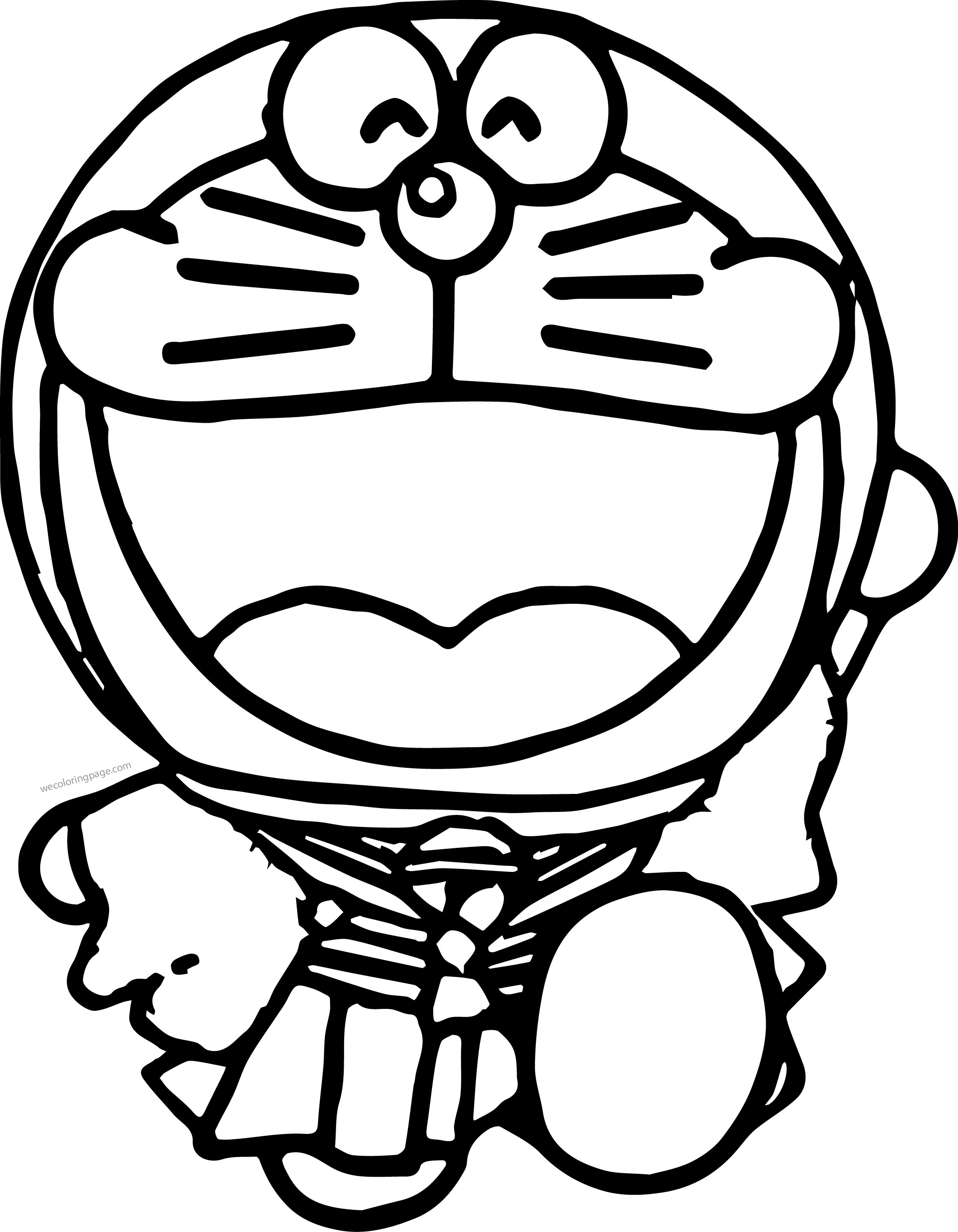 Doraemon Happy Coloring Page