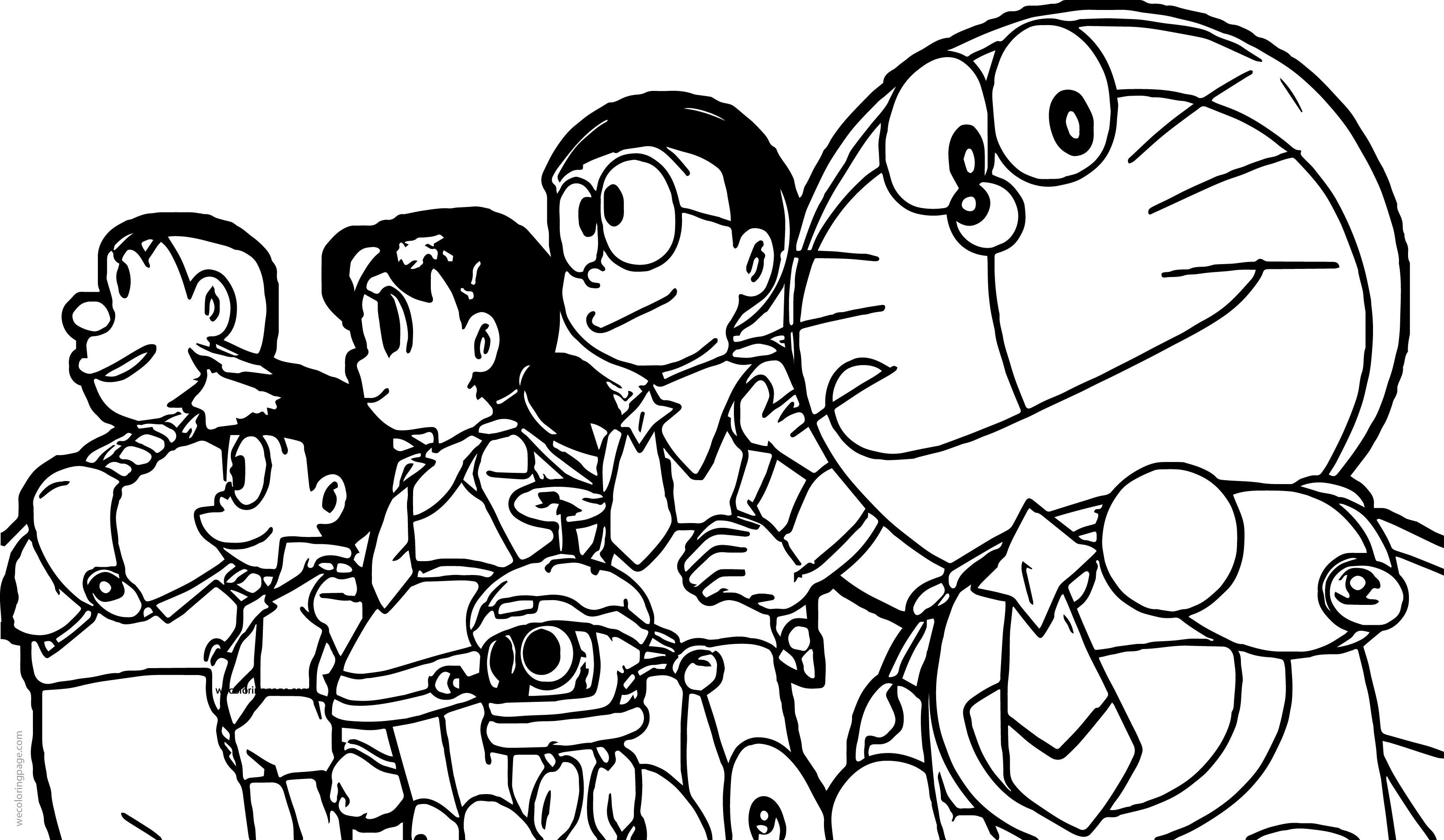 Doraemon Photo Coloring Page