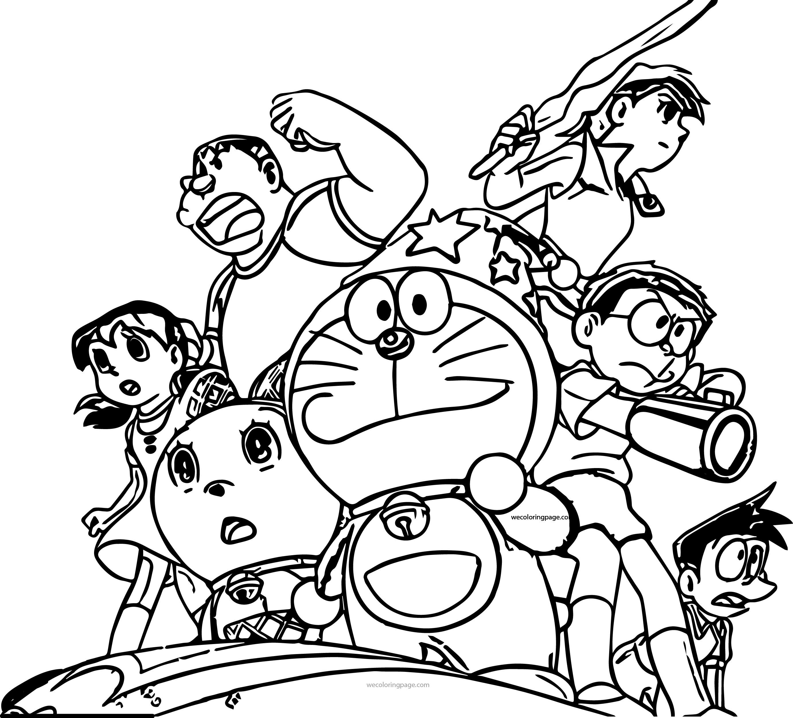 Doraemon Star Team Coloring Page
