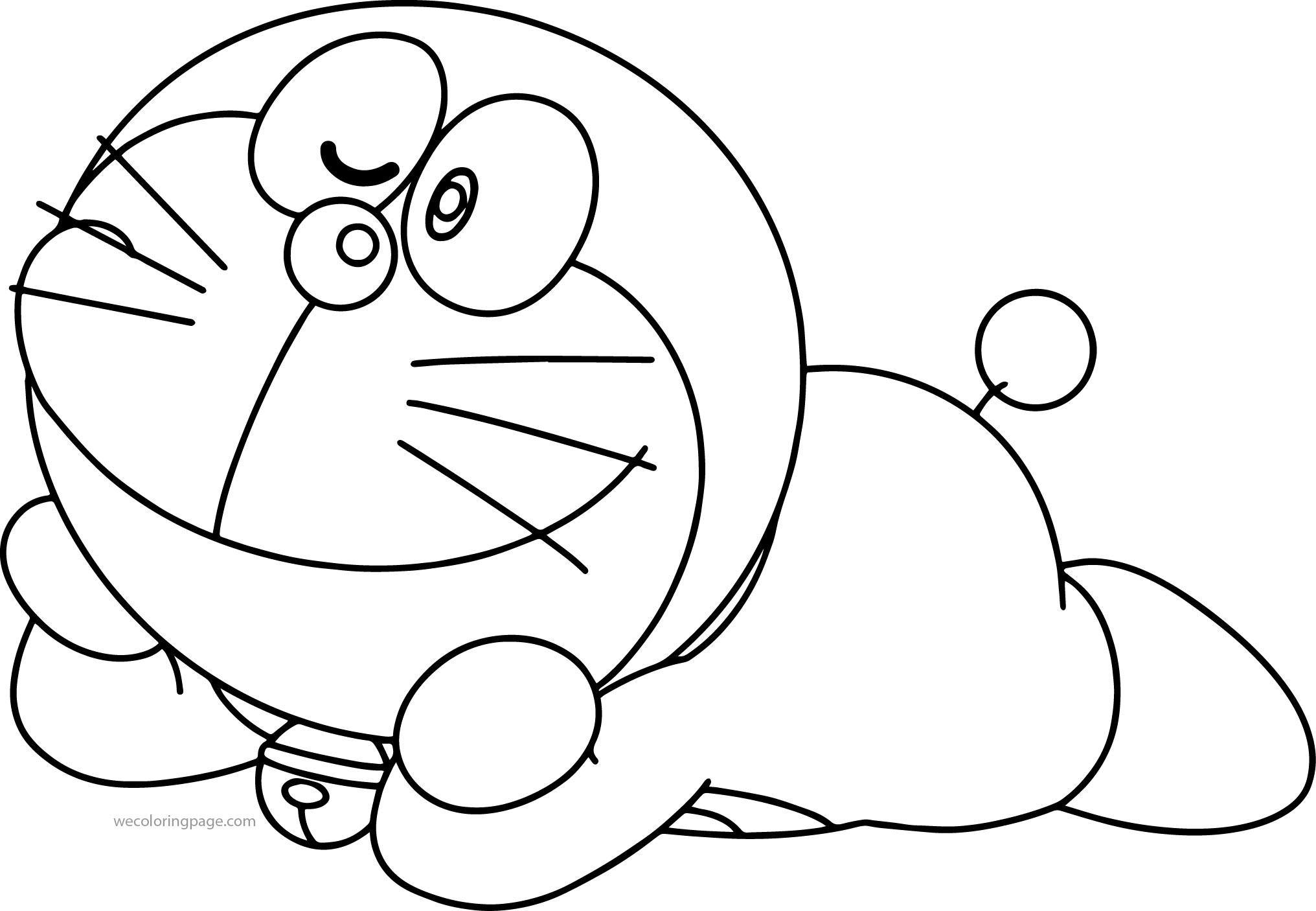 Doraemon Stretch Bratz Coloring Page