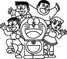 Doraemon Take Photo Coloring Page