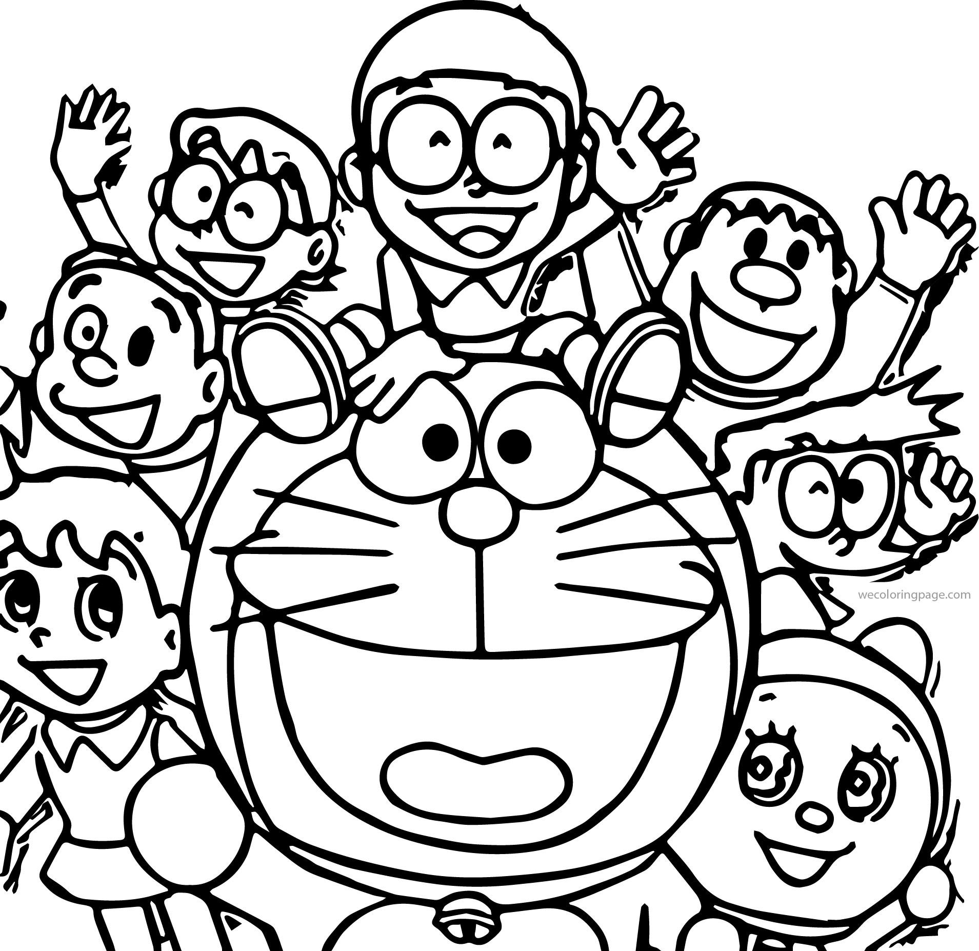 Doraemon wallpaper coloring page