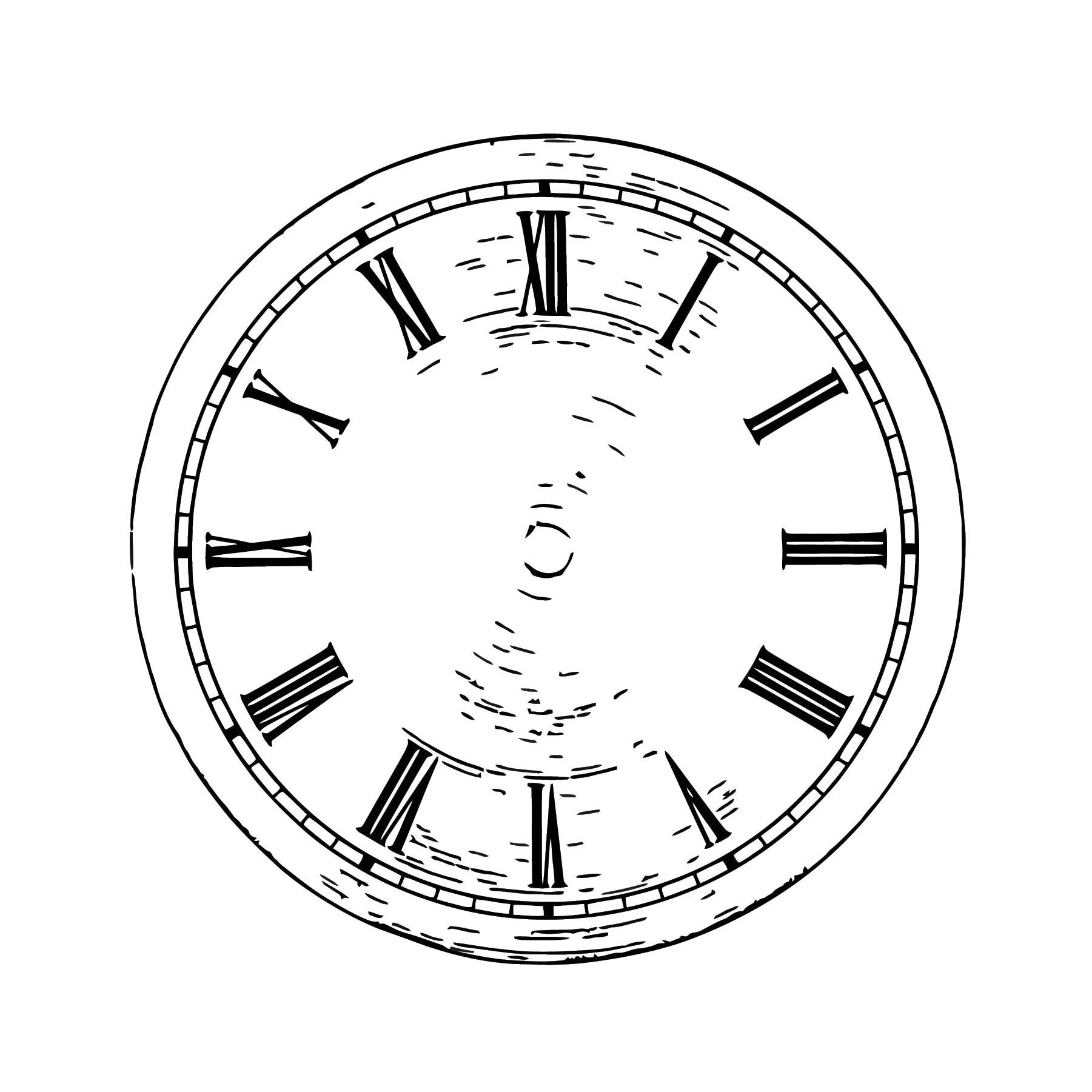 Dr412gr Quartz Clock Di Free Printable Al Cartoonized Free Printable Coloring Page