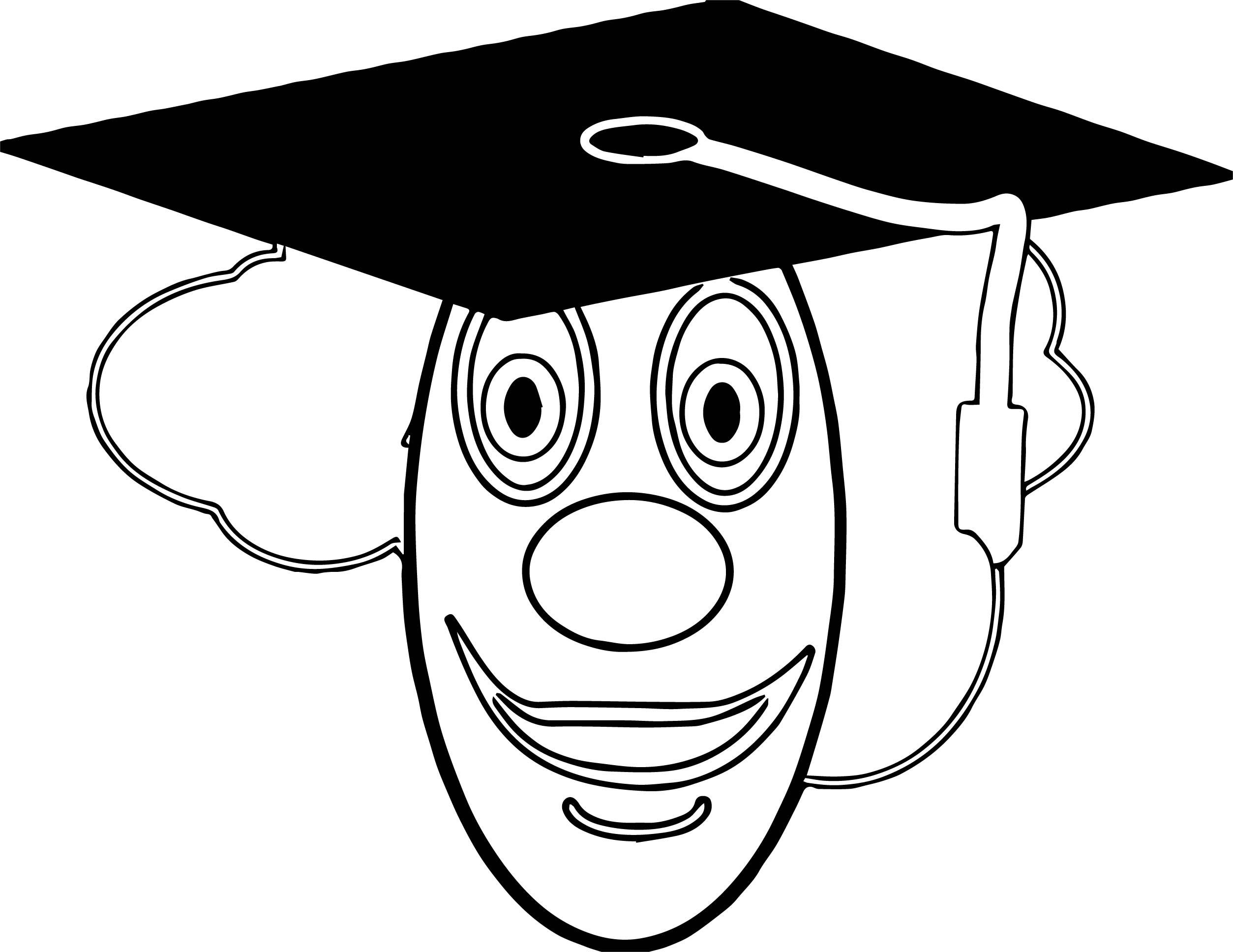 Draw Dot Com Clown School Graduate Coloring Page