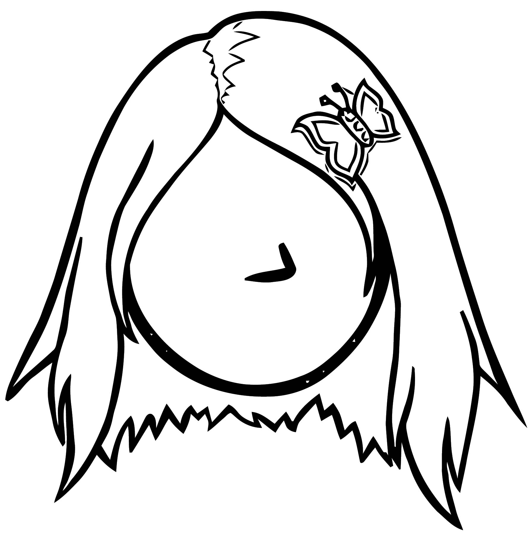 Dress Normally And Kool On Club Penguin Coloring Page