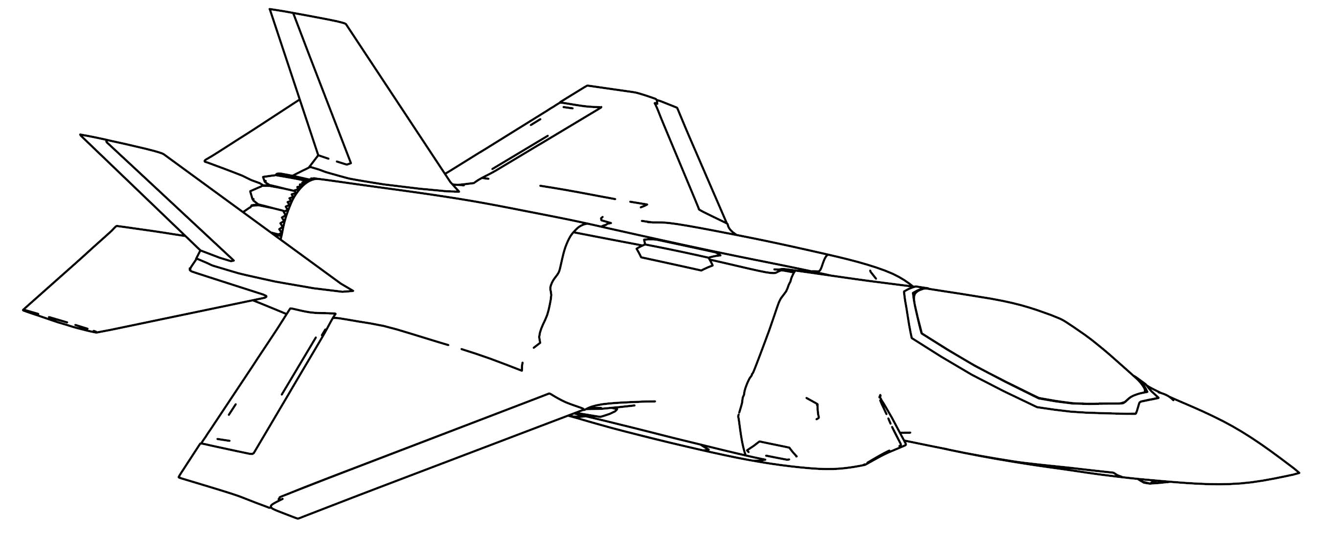 F-35A Lightning II Plane Coloring Page