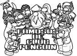 Famosos De Club Penguin Coloring Page