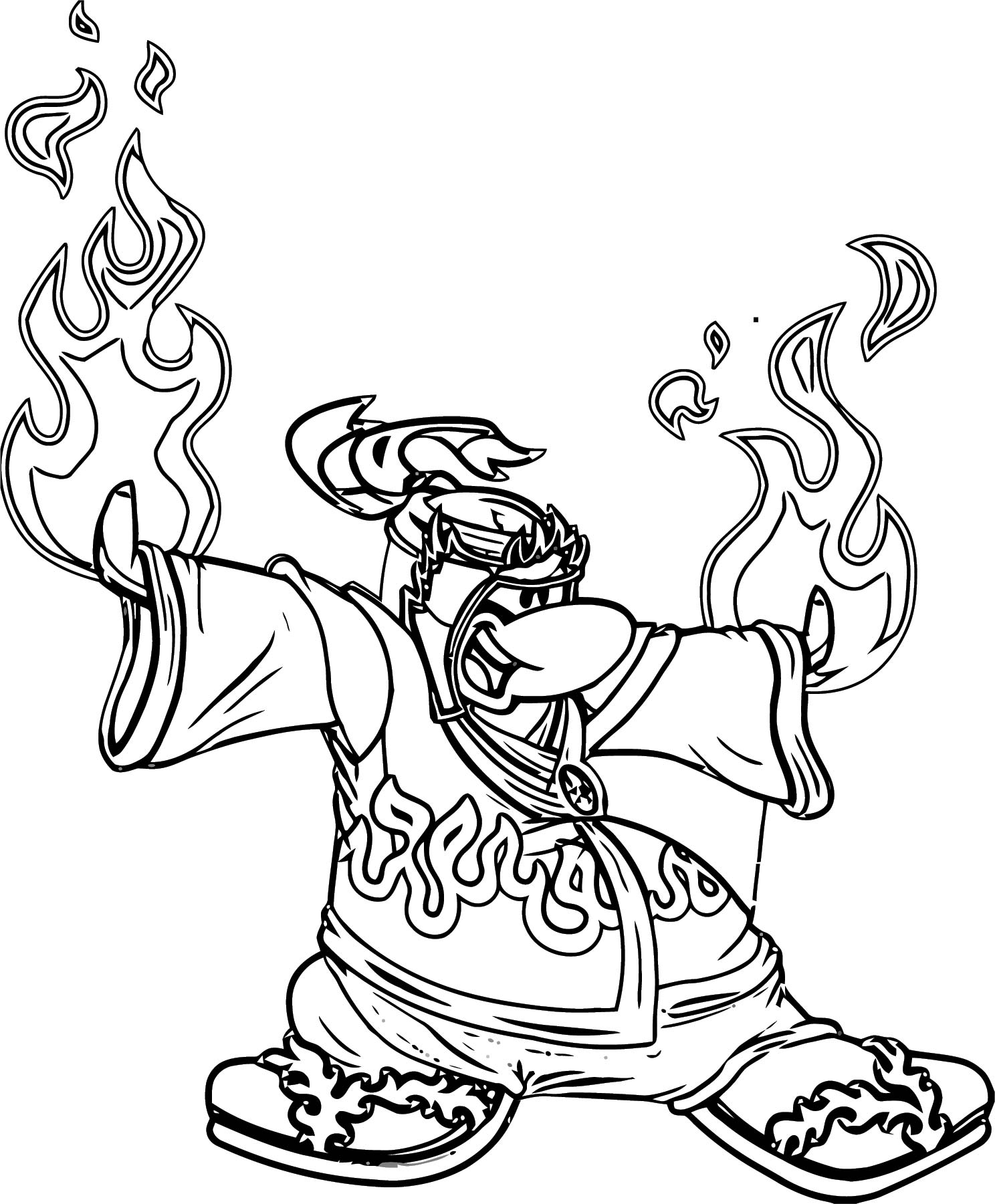 Fire Ninja 4 Coloring Page