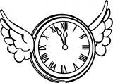 Flying Clock Clipart Free Printable 1 Cartoonized Free Printable Coloring Page