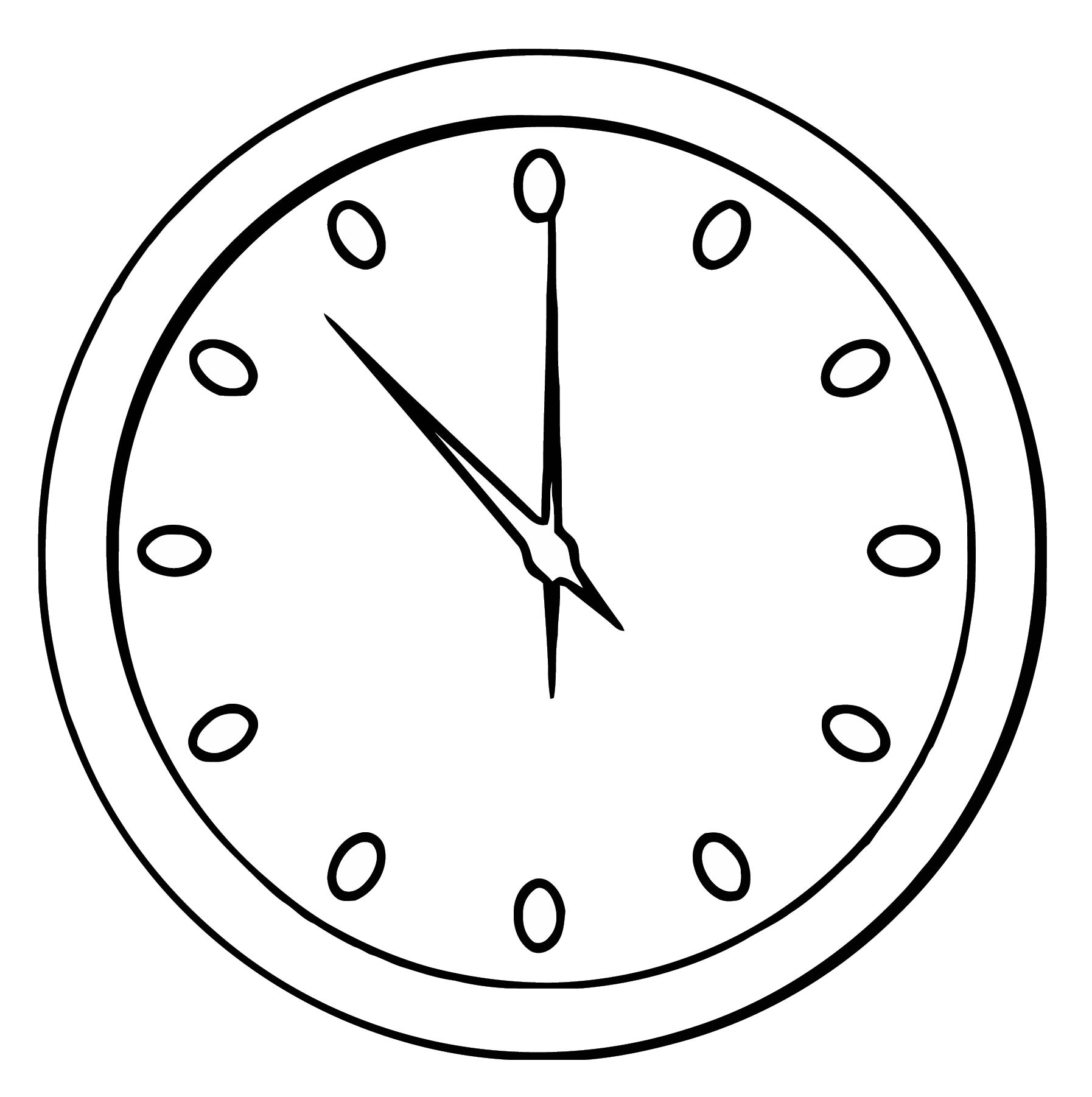 Football Clock Clipart Free Printable 1 Cartoonized Free Printable Coloring Page