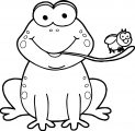 Frog On Togue Coloring Page