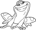 Frog Smile Coloring Page