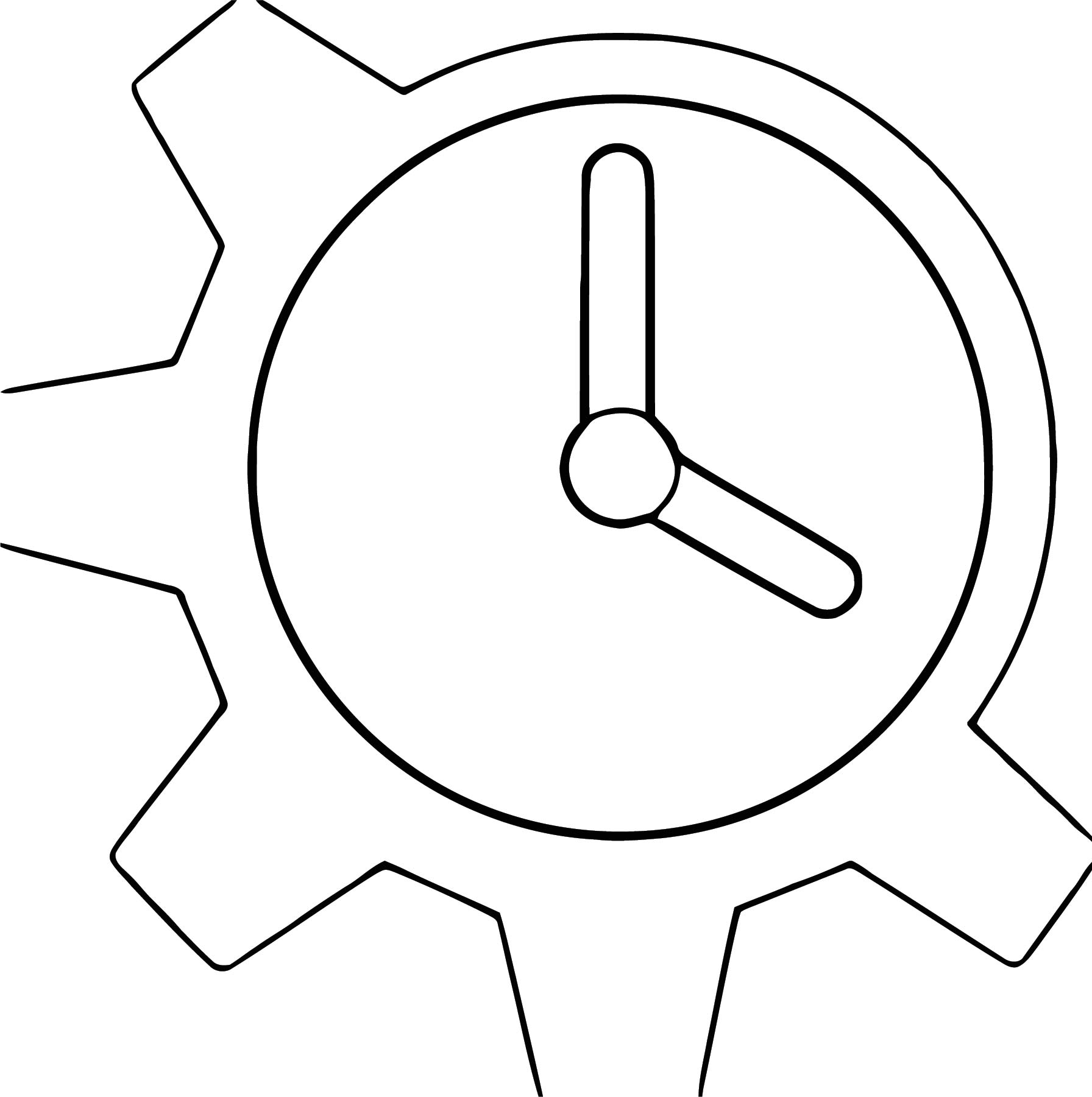 Gallery For Clock Clip Art Vect Free Printable Or Cartoonized Free Printable Coloring Page