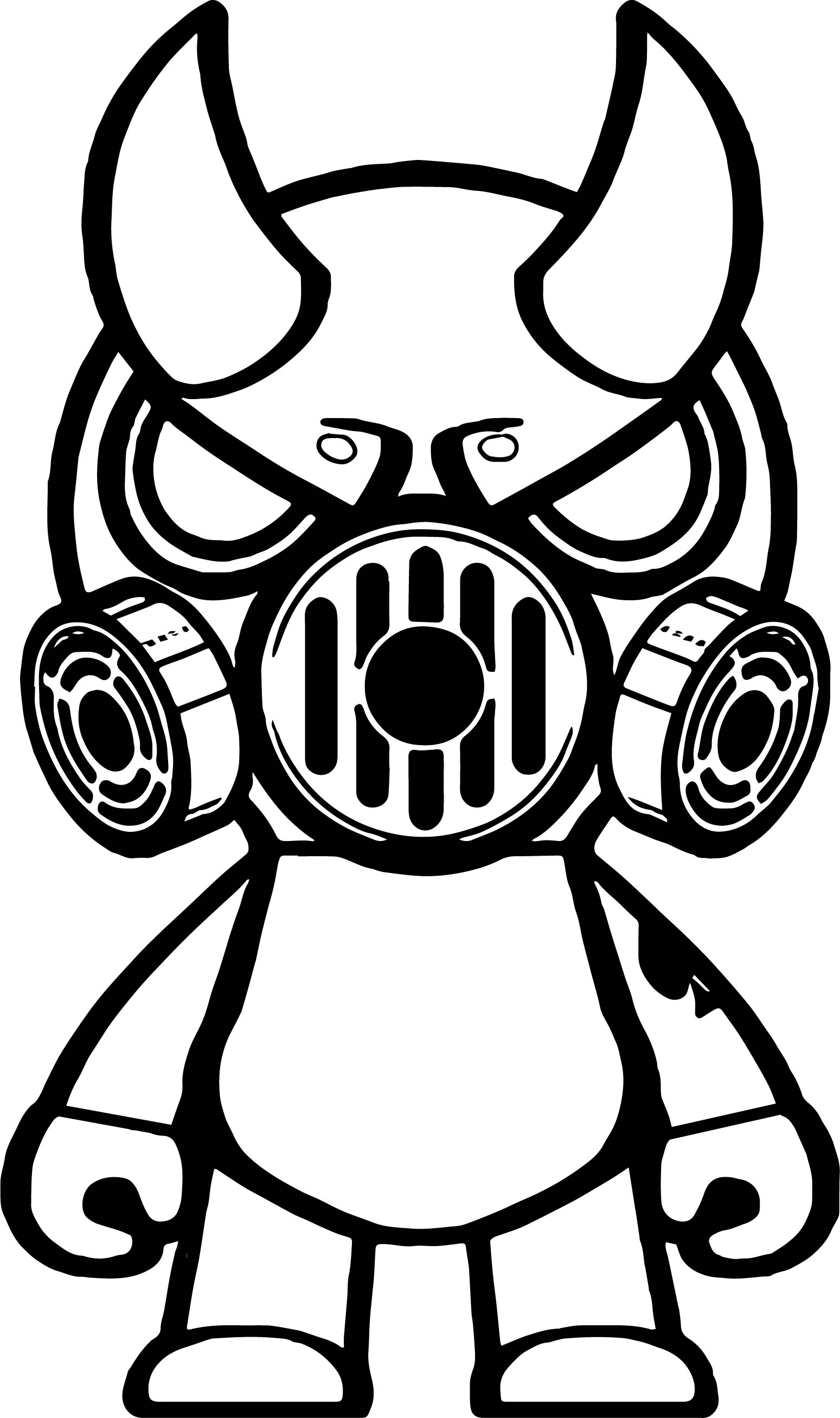 Gas mask oni black mask coloring page