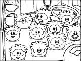 Get A Puffle On Club Penguin Coloring Page