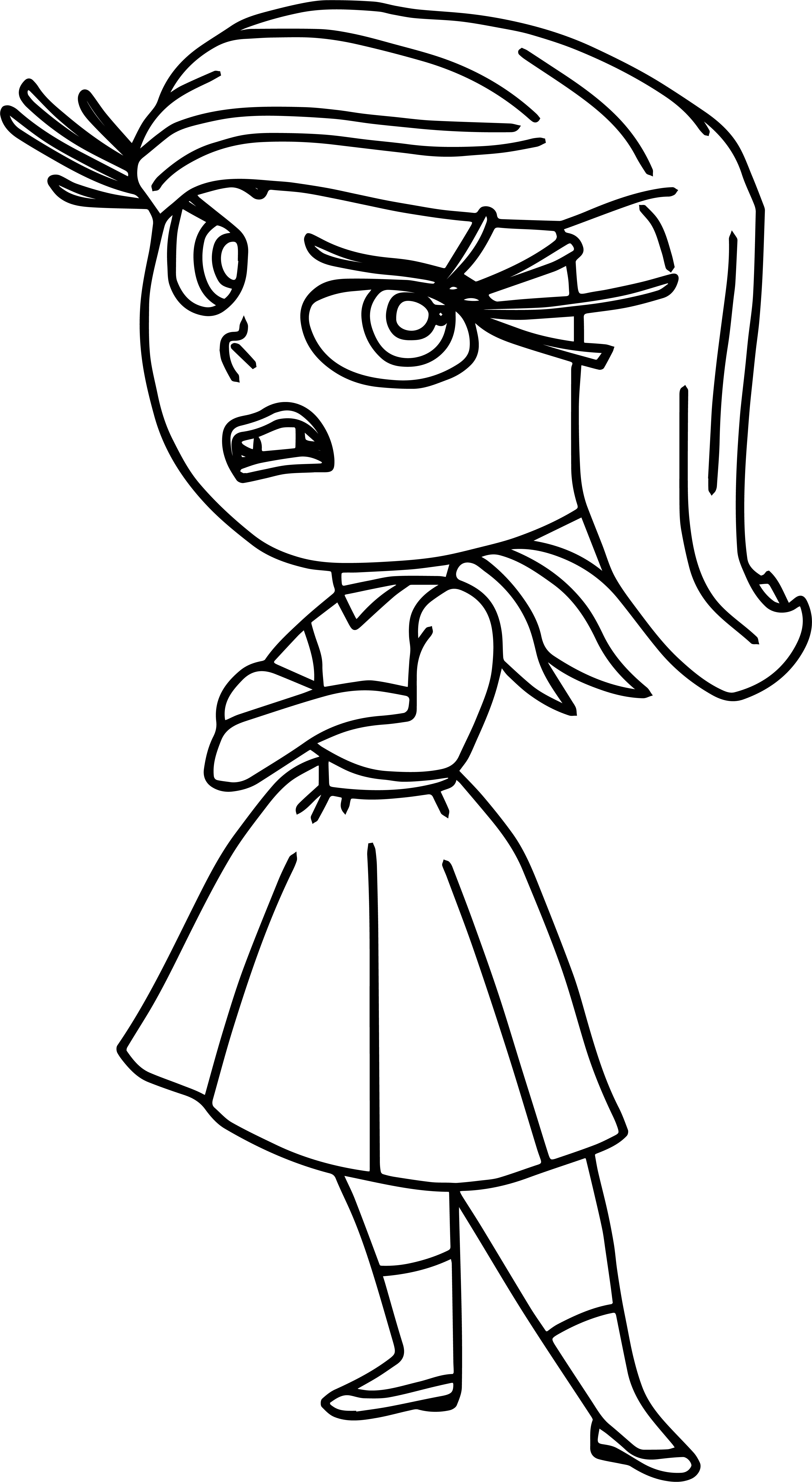 Insideout Disgust Coloring Pages