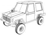 Jeep Offroad Coloring Page