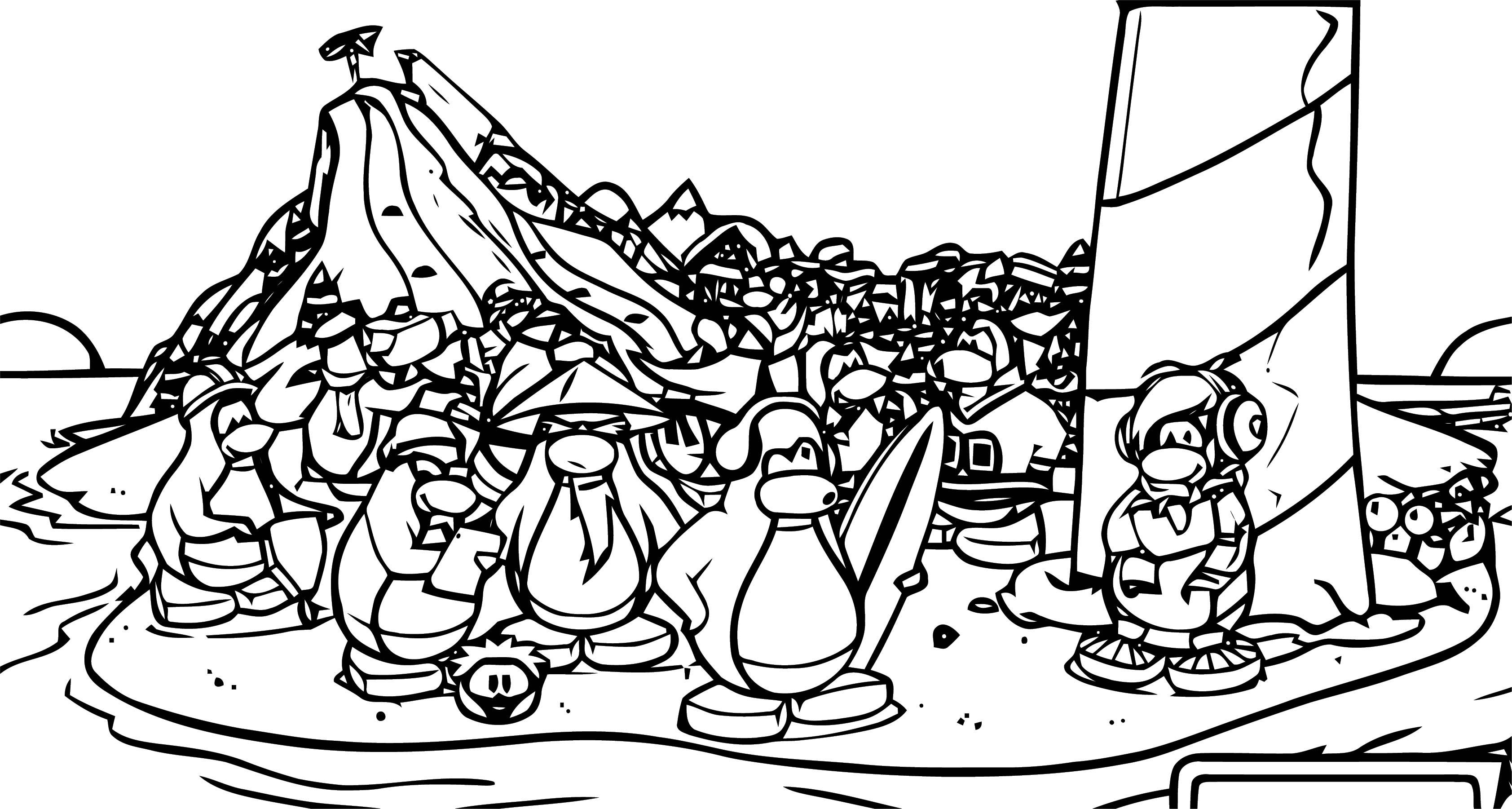 Juegos Club Penguin Coloring Page