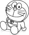 Just Doraemon Coloring Page