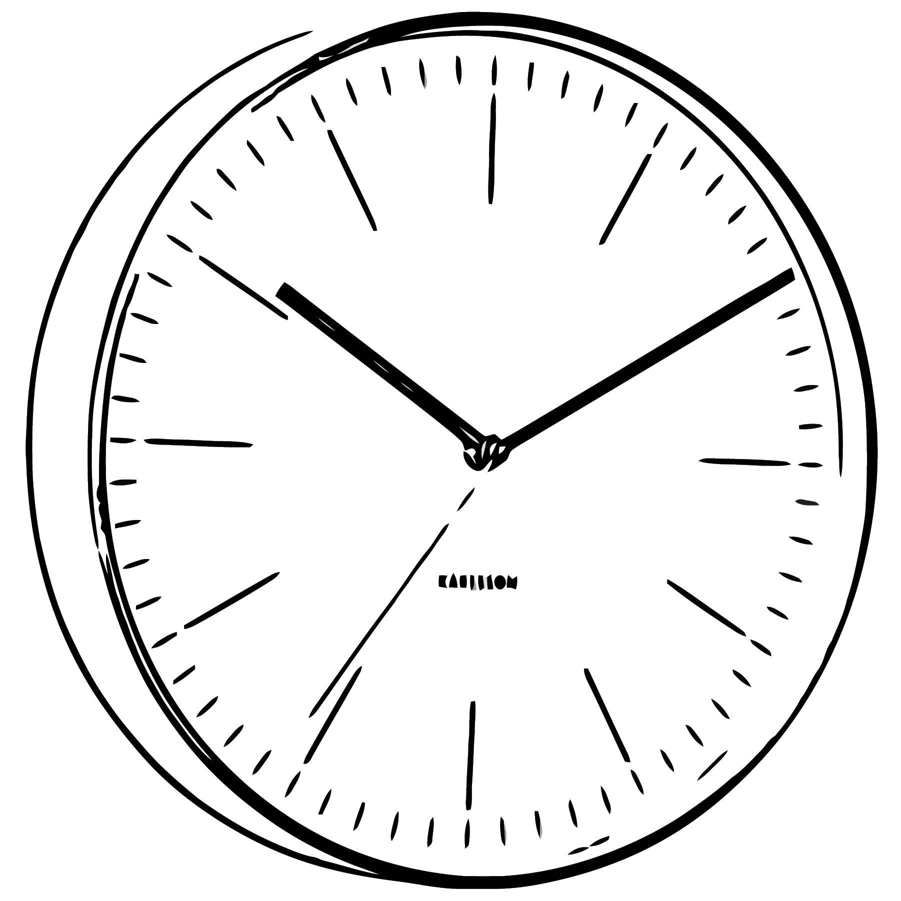 Karlsson Minimal Copper Clock White Free Printable 2 Cartoonized Free Printable Coloring Page