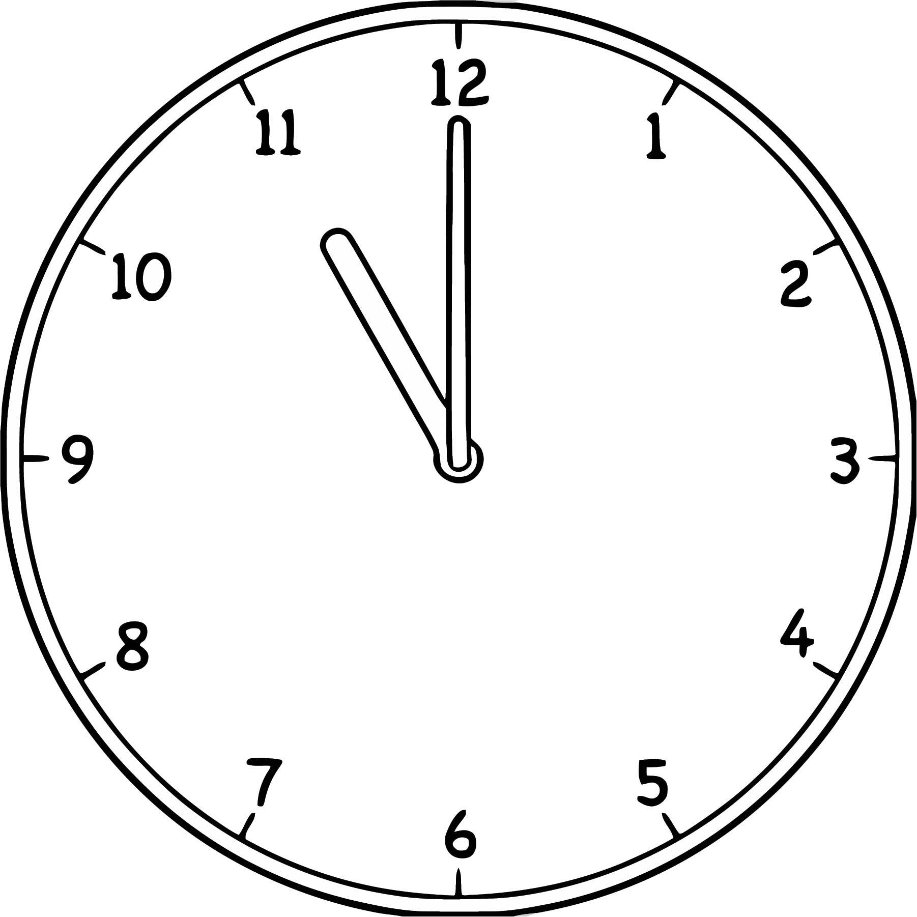 Large Clock Analog 11 Eleven 33 3 99 Free Printable 73 Cartoonized Free Printable Coloring Page