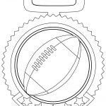 Medal Ball Football Logo Circle Coloring Page