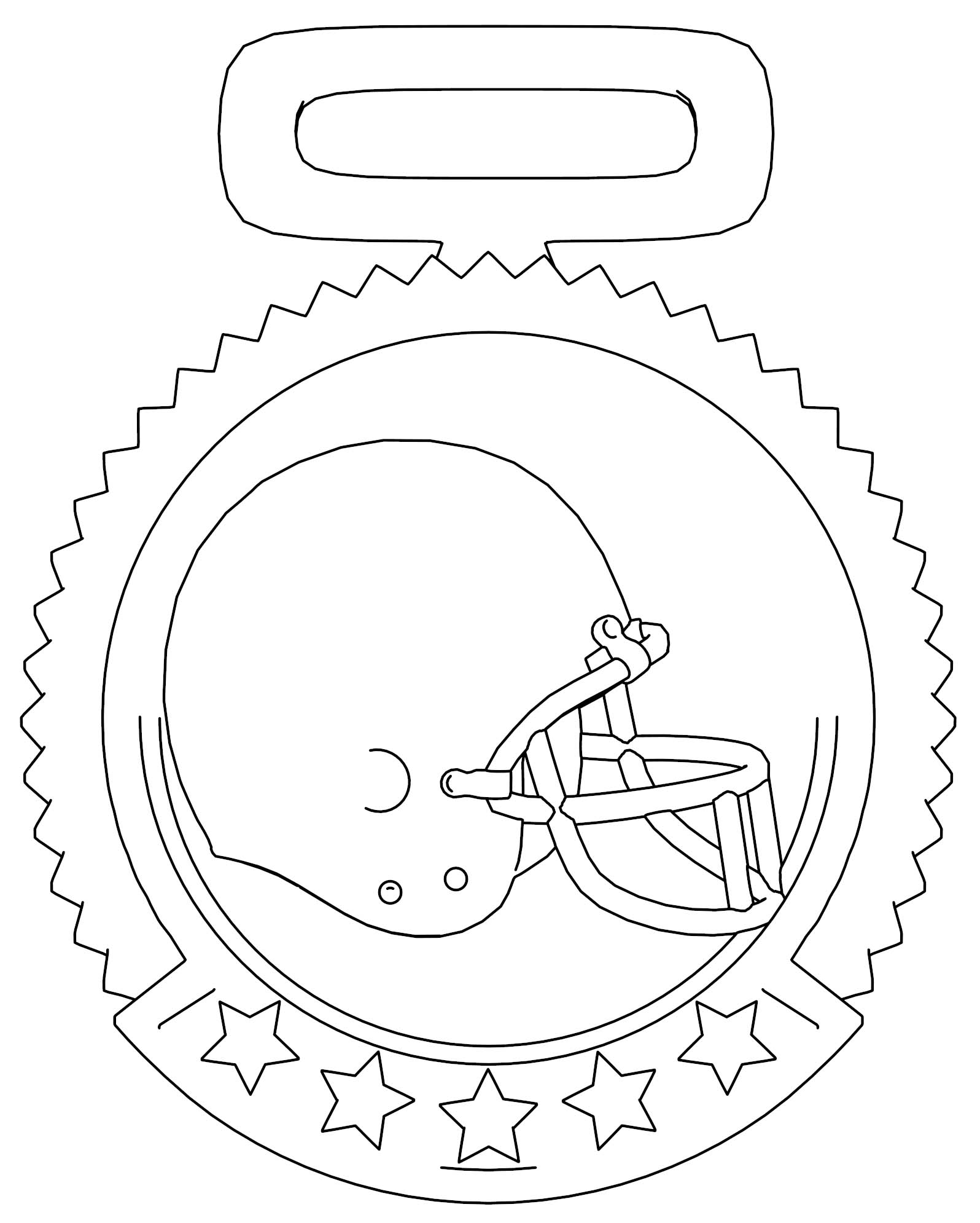 Medal Football Helmet Logo Coloring Page