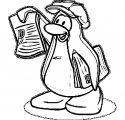 Media Page Penguin Coloring Page