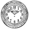 Medium Railway Clock Arabic Golden O Free Printable Ak Cartoonized Free Printable Coloring Page
