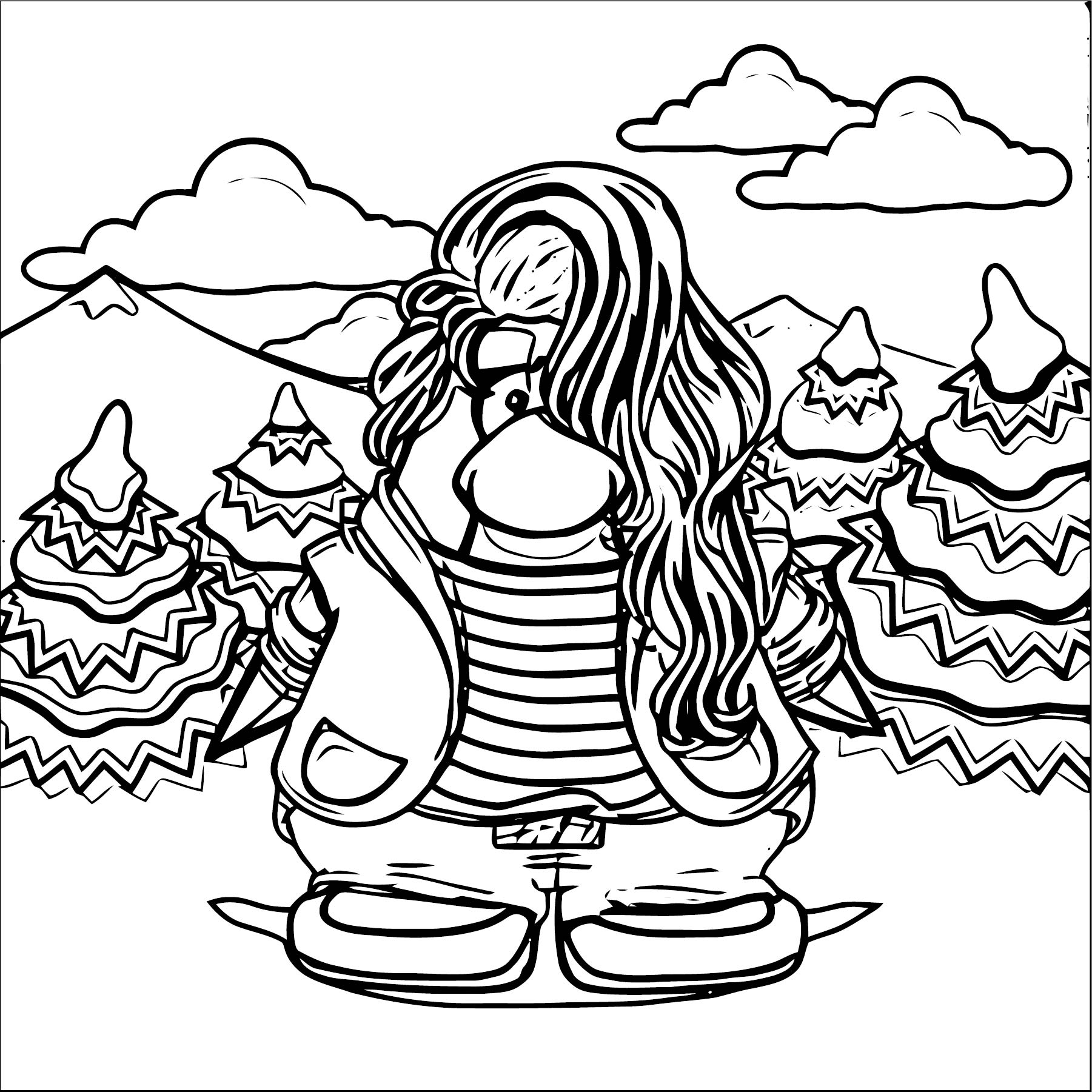 Megg Coloring Page