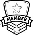 Membership Badge Coloring Page
