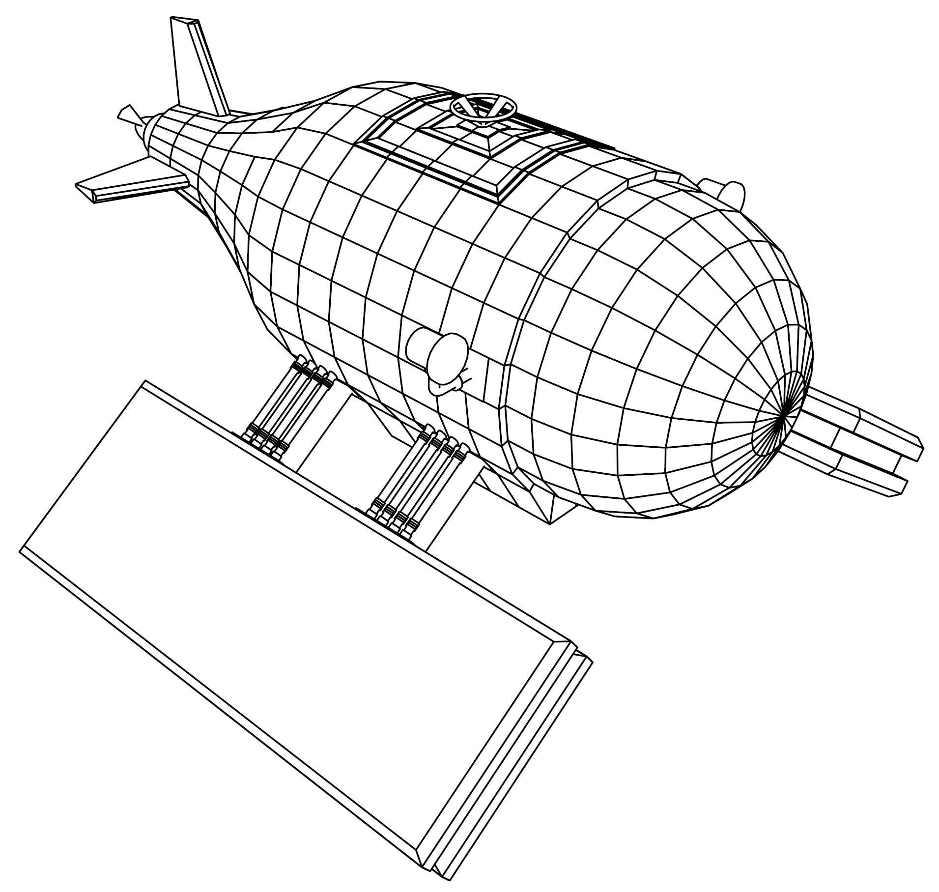 Mini Submarine Coloring Page