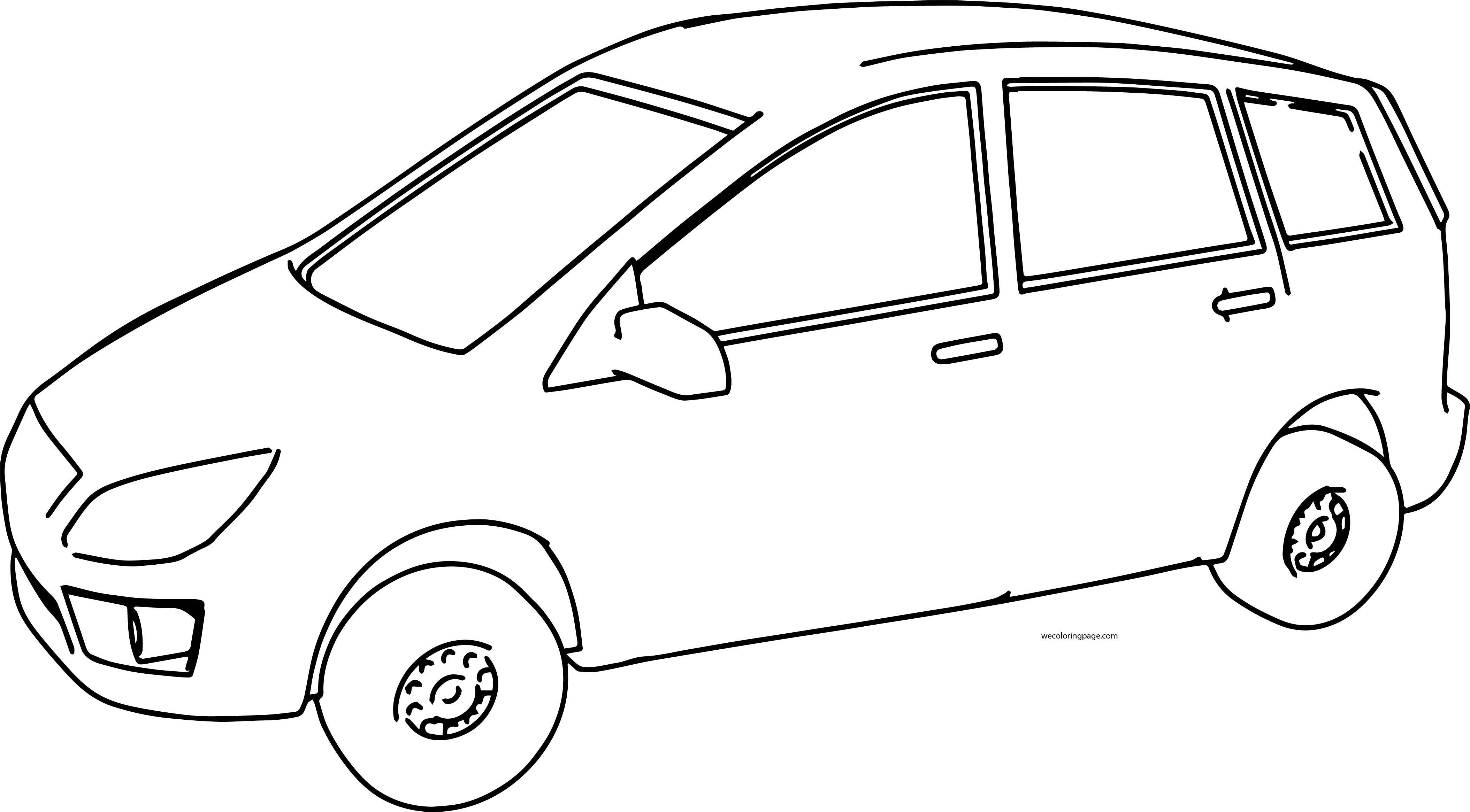 Minivan V1 Car Coloring Page