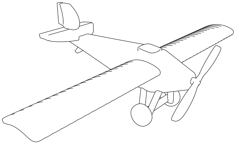 Monoplane V1 Plane Coloring Page