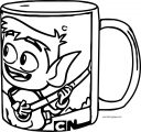 Mug Standard Right Coloring Page